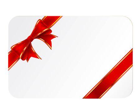 dressy: Tarjeta con cinta aisladas sobre fondo blanco