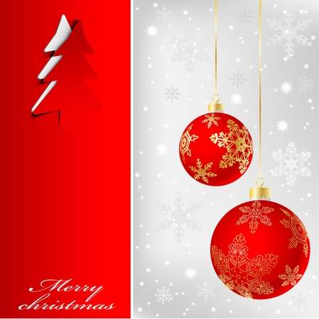 Illustration of banner with a christmas background  Vector  Vector
