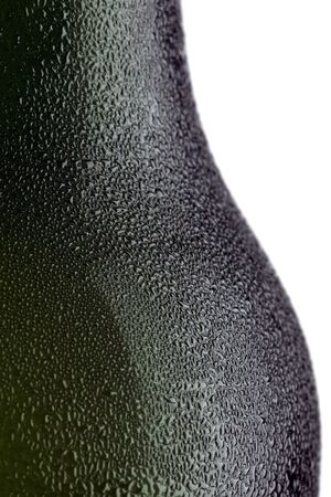 condensate: beer bottle isolated on white background
