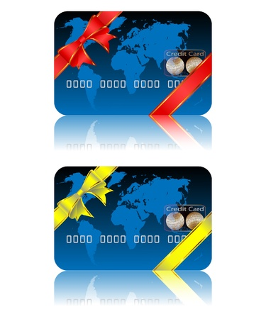 bankcard: Illustration of credit card on a white background. Vector.  Illustration