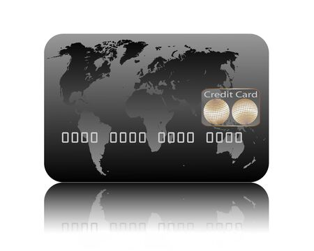 bankcard: Illustration of credit card on a white background Illustration