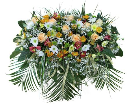 bouquet of flowers on white background photo