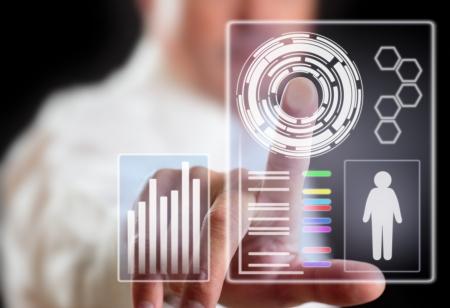 motion sensor: Man and computer display technology of future.