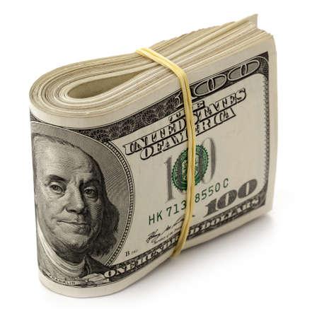 U.S. dollars isolated on white background. photo