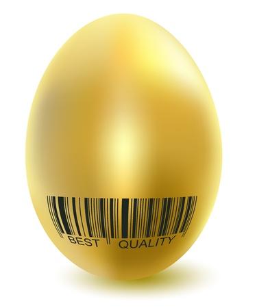barcodes: Illustration golden chicken eggs isolated on white background. Vector. Illustration