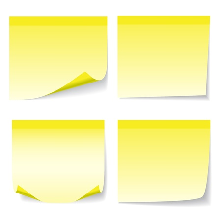 yelow: Yelow sheet of paper isolated on white background. Illustration, vector. Illustration