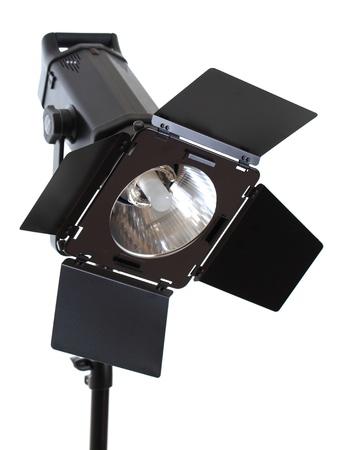 reflector: studio lighting isolated on white background