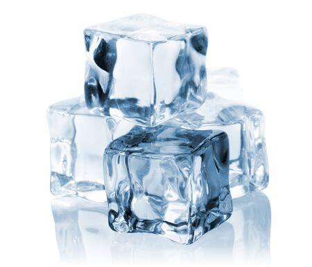 Ice cubes isolated on white background Stock Photo - 18816614