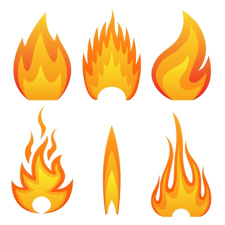Illustration of flame fire