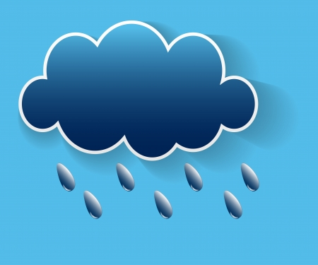 Illustration messages in the form of clouds  Vector