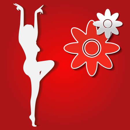 Illustration of a dancing girl   Vector