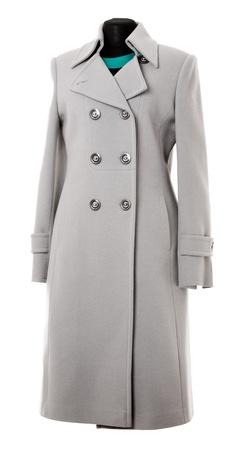 Demi Saison Mantel auf einem weißen Hintergrund isoliert Standard-Bild - 19970841