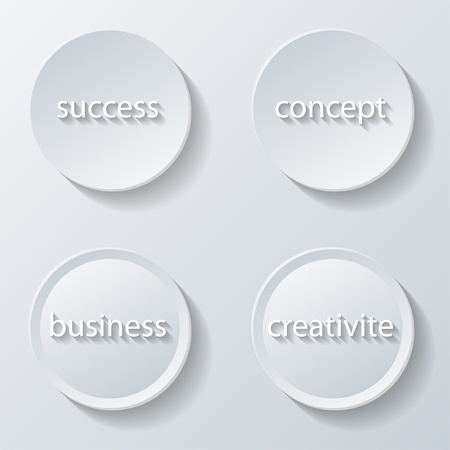 resourcefulness: Illustration of paper icons buttons set business
