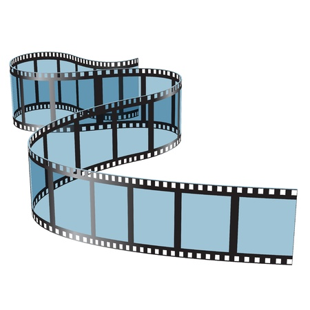 film strip: Illustration film on white background