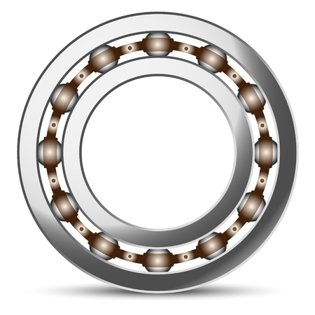 bearing: Illustration of ball bearings on a white background  Vector