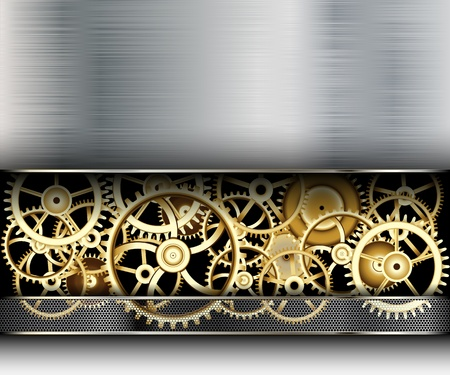 time machine: Illustration of Abstract Background with a Metallic Element