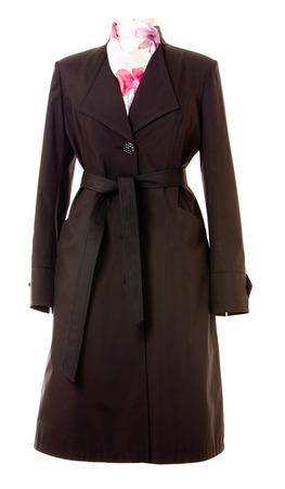 slicker: coat isolated on white background