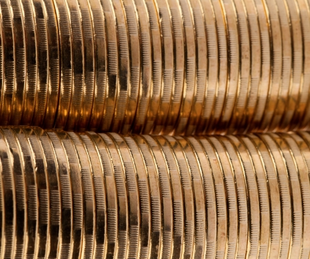 Many gold coins. Loose Change. photo
