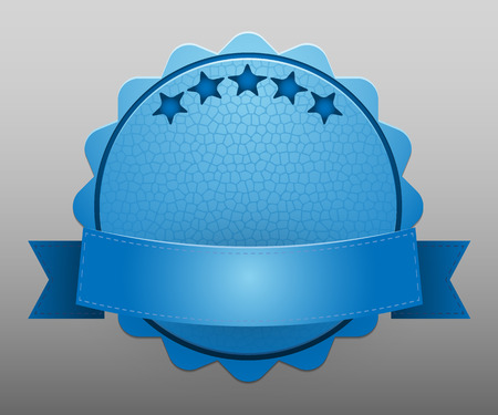 best service: Illustration of the blue mark of best quality. Vector.
