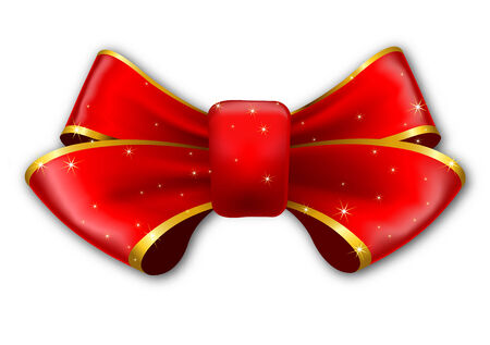 bowknot: Red bow isolated on white background  Vector Illustration   Illustration