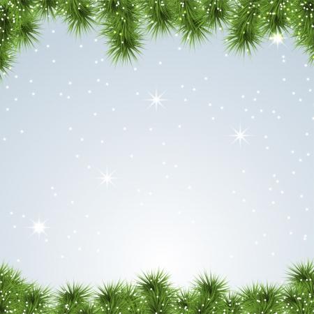 albero pino: Banner Natale sfondo. Pino. Illustrazione vettoriale.