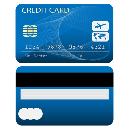 bankcard: Credit card isolated on white background. Vector illustration. Illustration