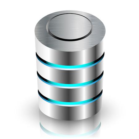 protected database: Concepto de Base de informaci�n privada. Ilustraci�n del vector.