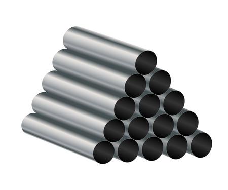 Metal tube on a white, illustration Stok Fotoğraf - 25520195