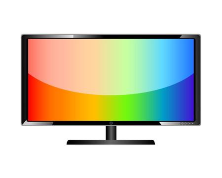 tv scherm: LCD tv-scherm lcd televisie Stock Illustratie