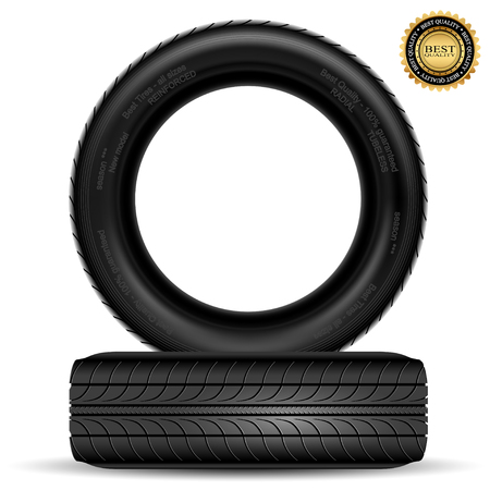 car tire: Illustration of car tire isolated on white background  Vector