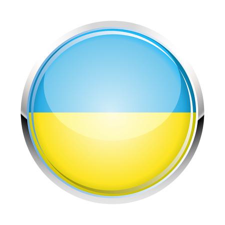 ukrainian flag: Ukrainian flag icon vector illustration