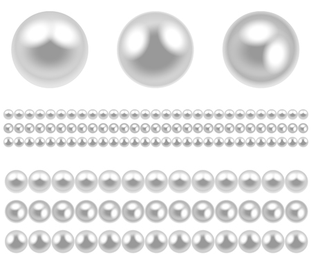 pearls: Illustration pearl isolated on white background  Vector   Illustration