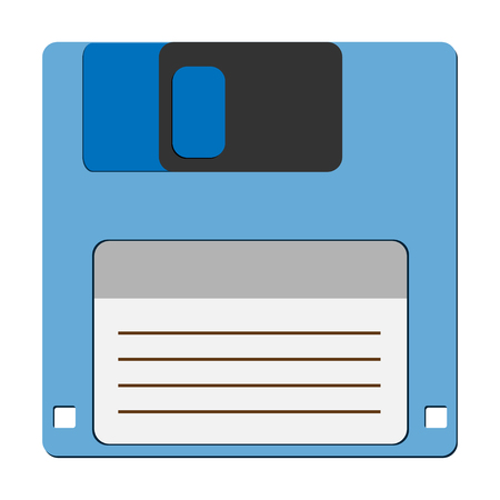 archiving: Floppy disc icon for computer data storage.  Illustration