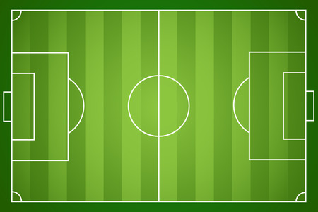 soccer field: Illustration of a football field.