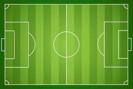cancha de futbol: Ilustraci�n de un campo de f�tbol. Vectores