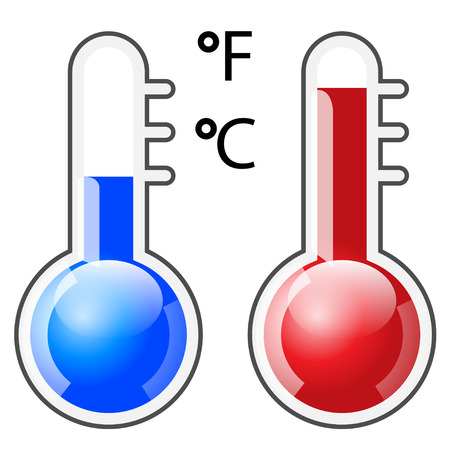 hotness: Illustration Icon Thermometer isolated on white.  Illustration