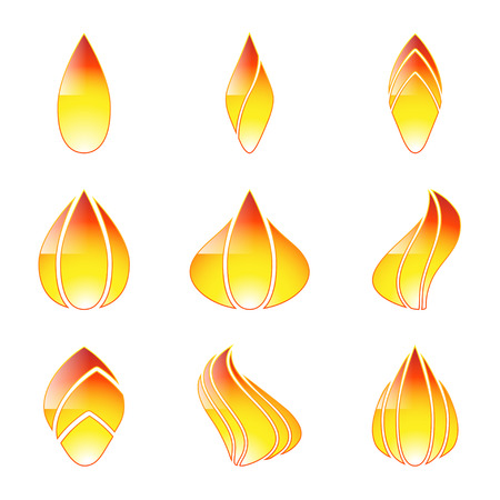 propane: Icon flame isolated on white background