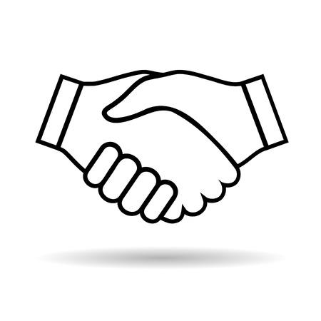 business handshake: Illustration icon handshake isolated on white background Illustration