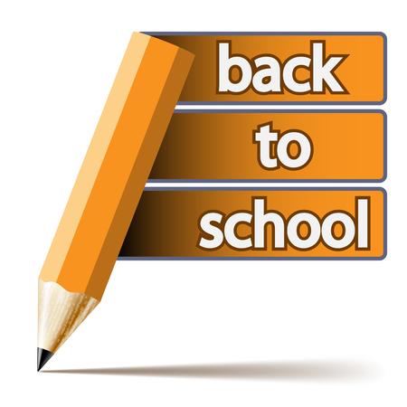 grafito: Inscripción lápiz Resumen Volver a la escuela en el fondo blanco. Ilustración. Vector.