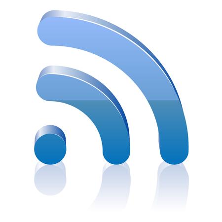 icono wifi: Icono de Wifi para las ondas de radio. Ilustraci�n del vector.