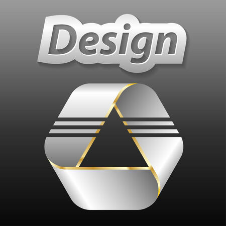 stil: Metallic Icon for the Company, on grey background.