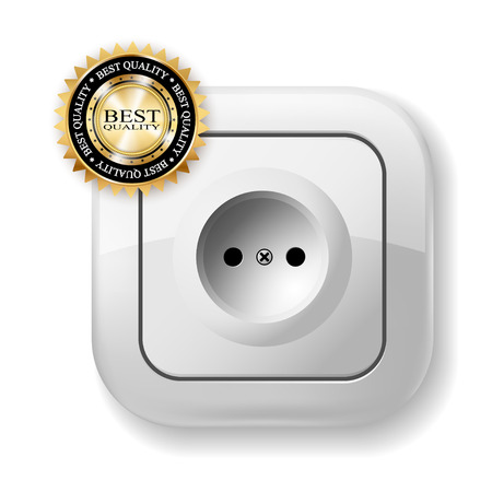 alternating current: White Electric Socket.