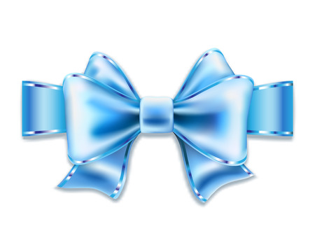 blue bow: Blue bow isolated on white. Vector illustration.