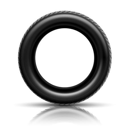 retreading: Illustration of car tire isolated on white background.  Illustration