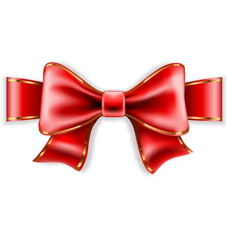 bowknot: Red Bow Isolated on White Background. Vector Illustration.