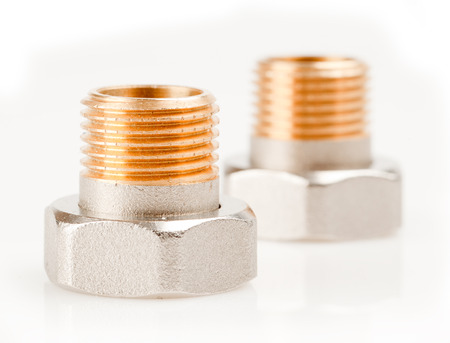collet: Nut plumbing on a white background.