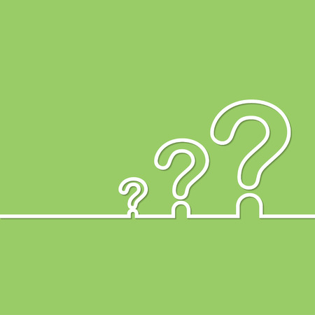 questionail: FAQ sign. Question icon. Help symbol. on green background. Vector illustration. Illustration