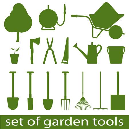 crop sprayer: Set of icon garden tools. Vector illistration.