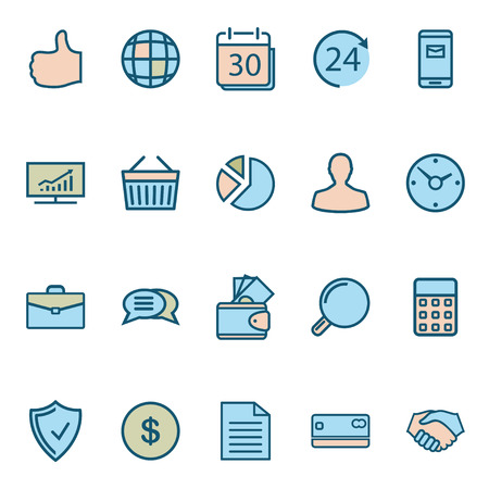 icons business: Business Web Icons Illustration