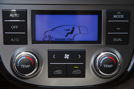 cooling system: Air conditioning and heating in the car. Control Panel In Interior.